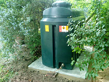 bunded oil tank installation